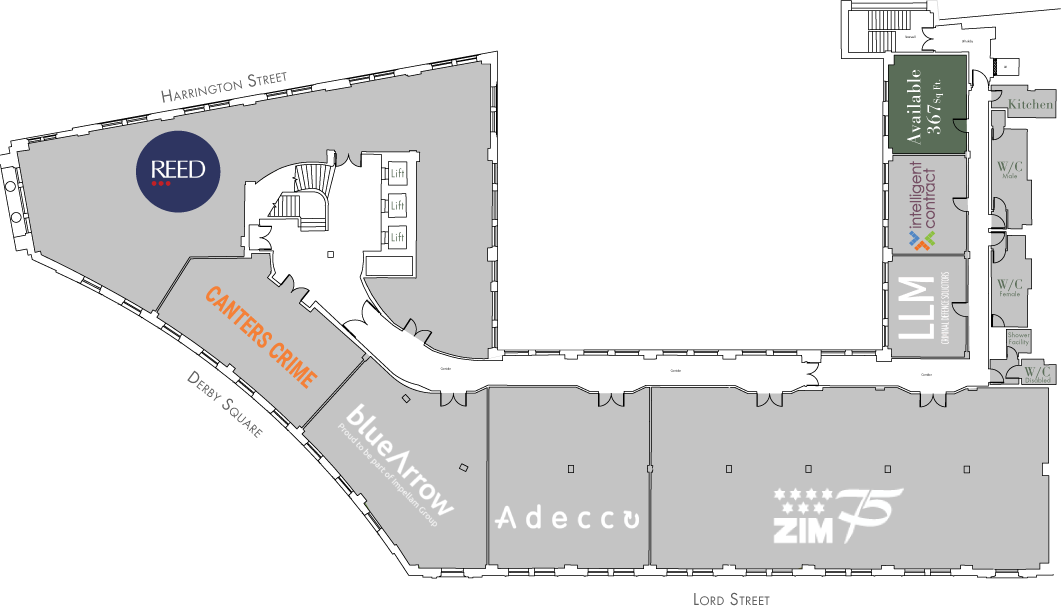Level One Floor Plan - One Derby Square